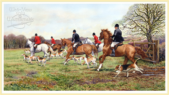 Horses and hounds by Anthony Forster